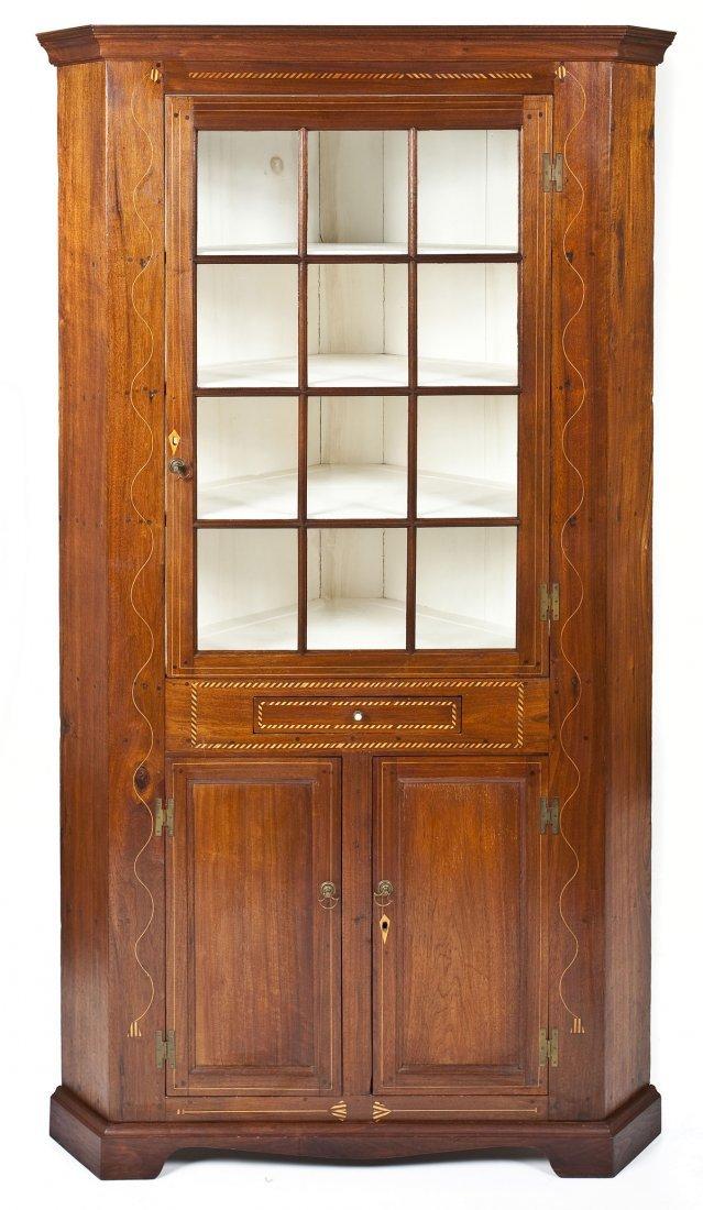 Pennsylvania Federal Corner Cupboard