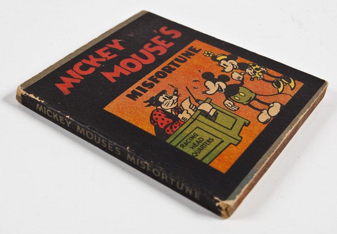 1934 Whitman Mickey Mouse's Misfortune Mini Book