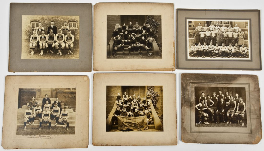 6 Early 20th C Sports Photographs Incl Hershey
