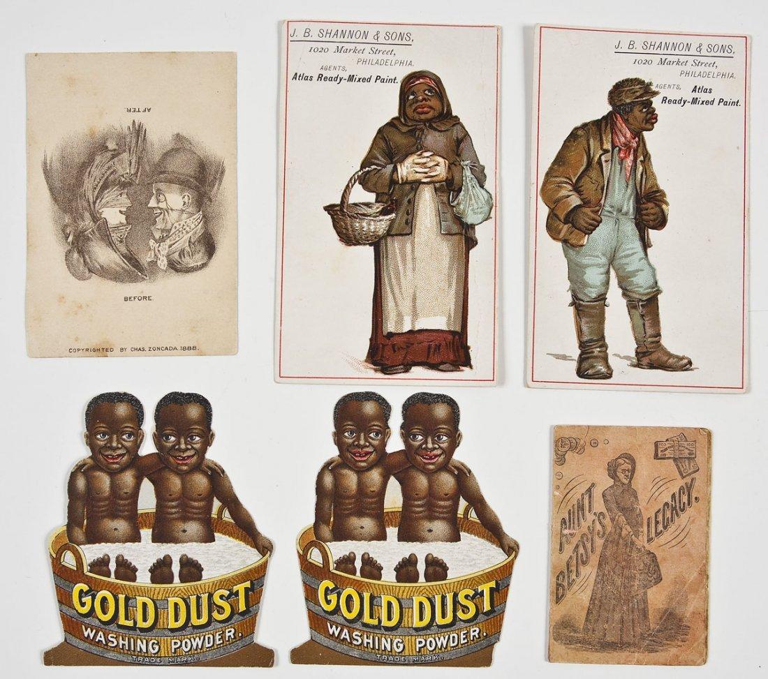 6 Vintage Tradecards Incl Black Americana