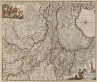 C 1690 Map of Gelderland Frederick de Wit