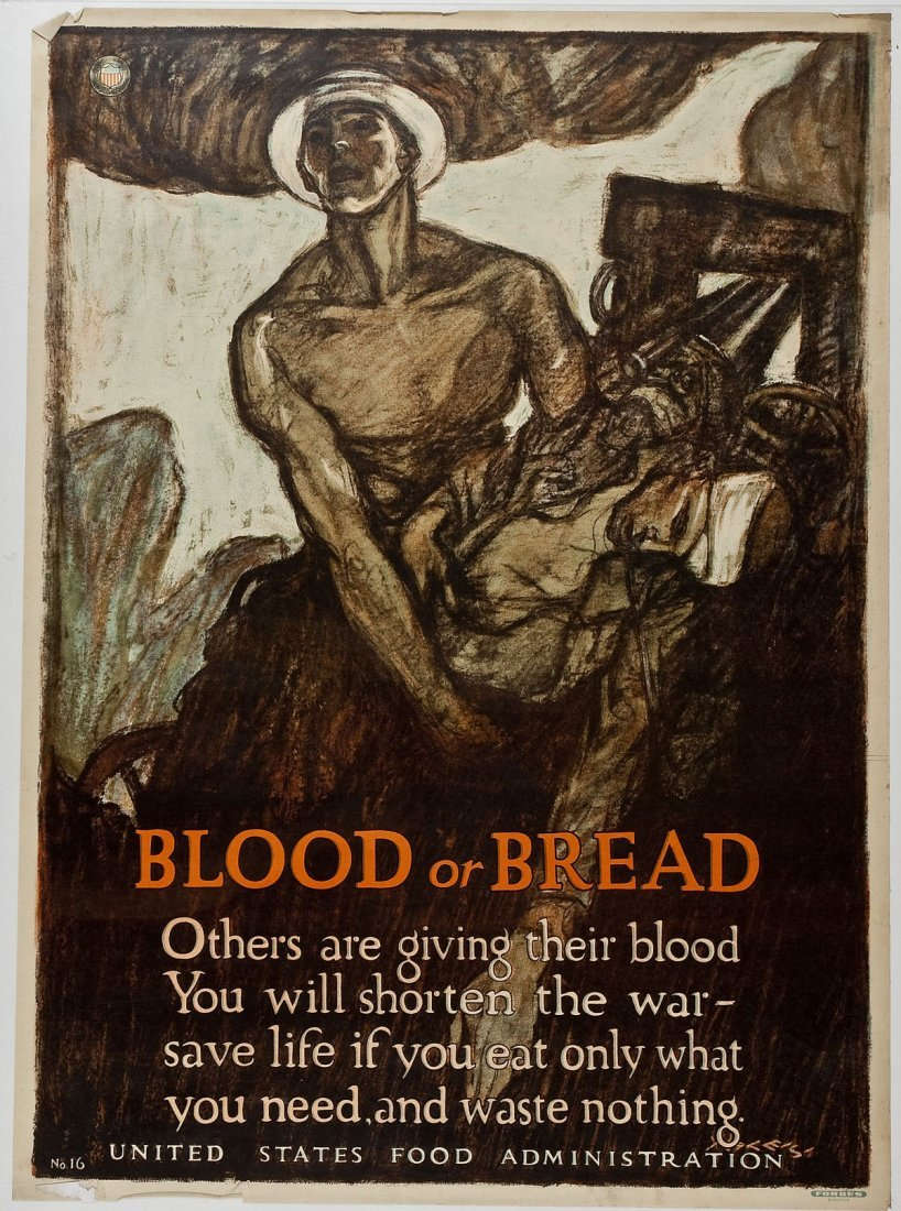 WWI Poster Blood or Bread Henry Raleigh