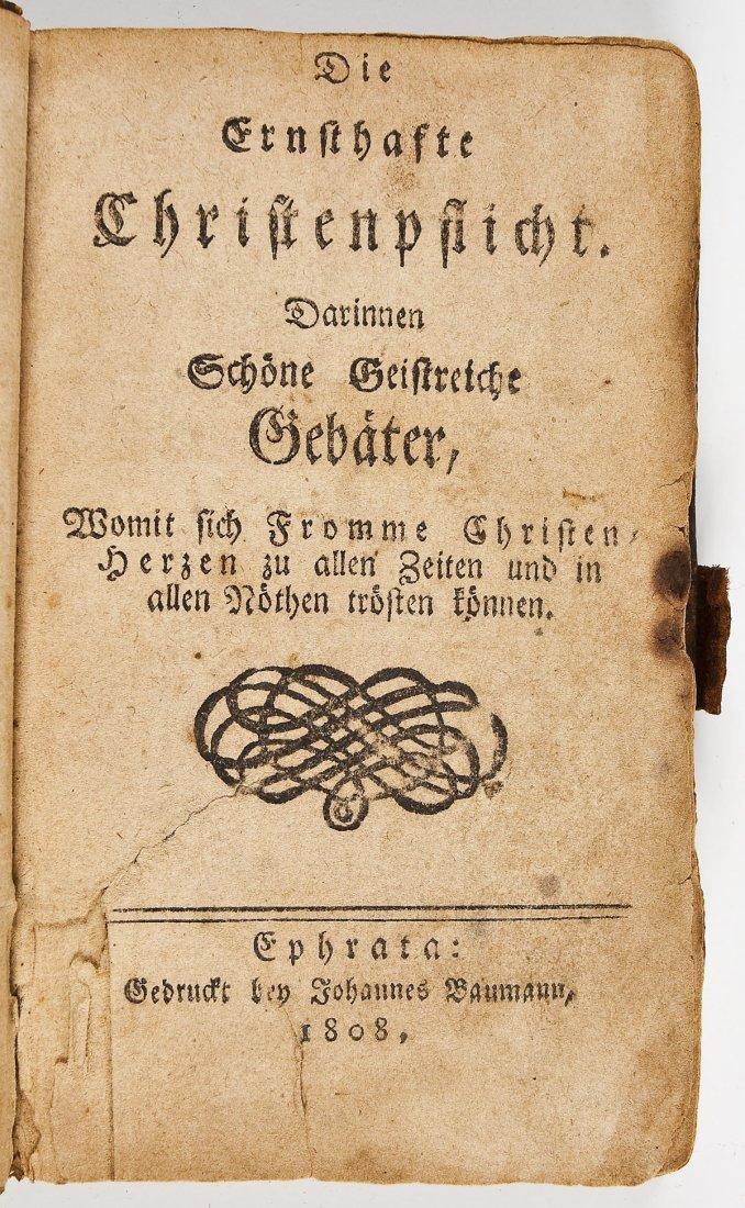 1808 Ephrata Die Ernsthafte Christenpflicht