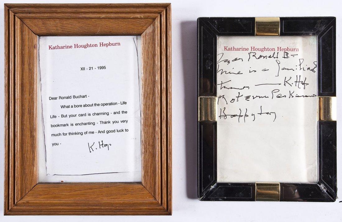 Katharine Hepburn ALS & Signed Note