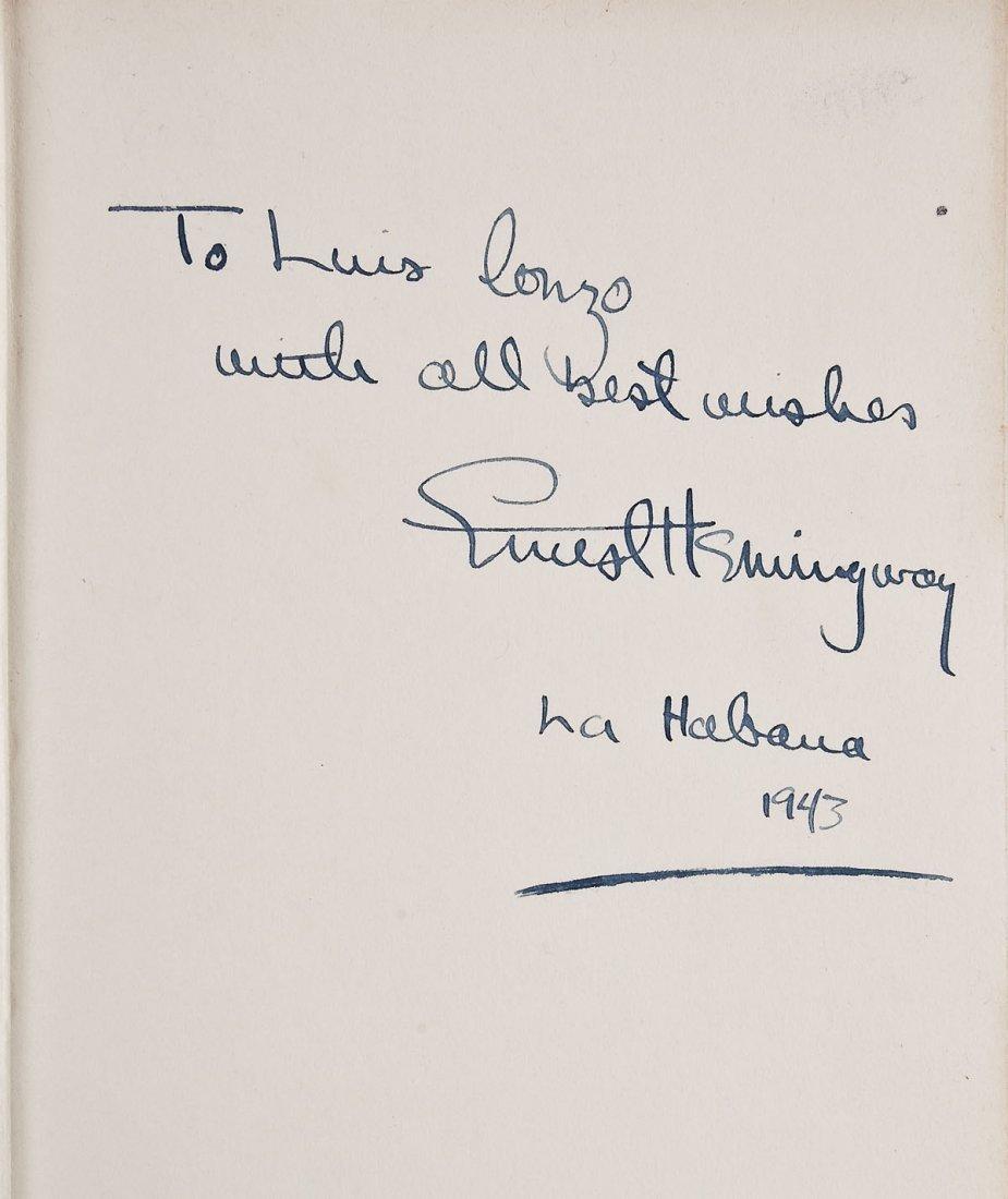 Ernest Hemingway Signed Winner Take Nothing