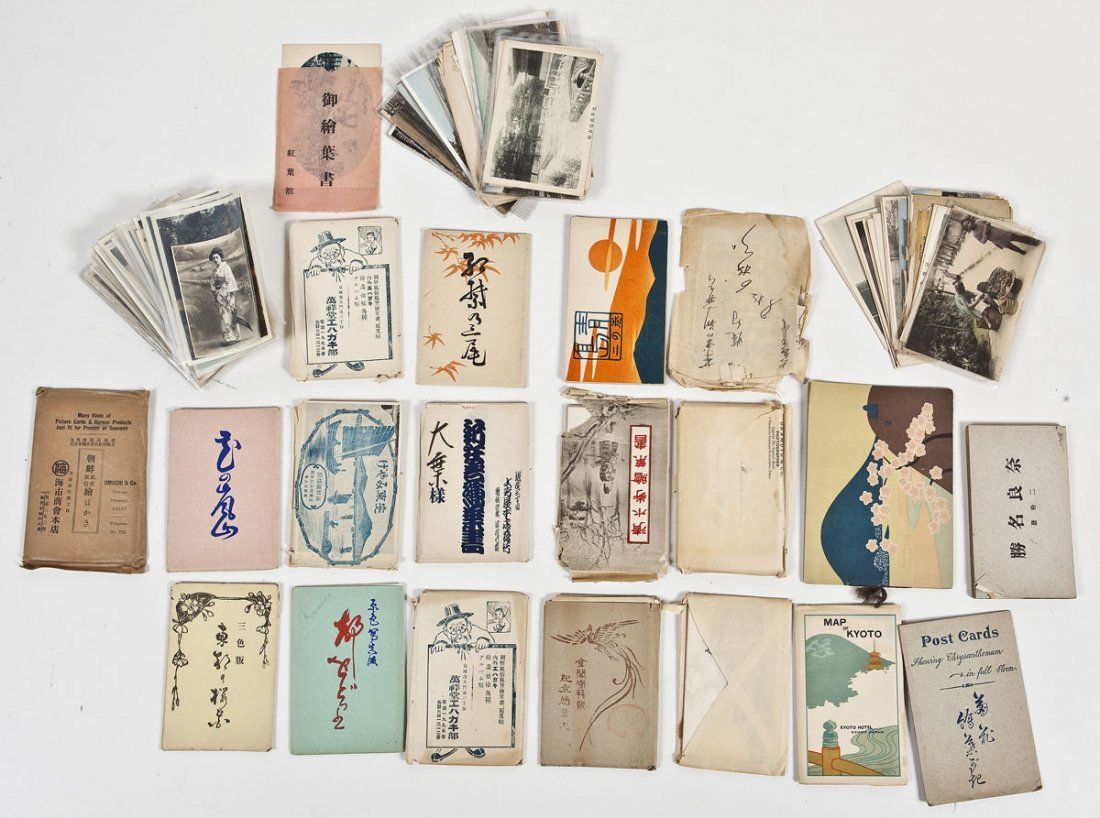 Large Group of Vintage Japanese Postcards & Photos
