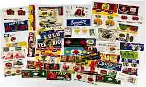 Large Lot of Vintage Labels