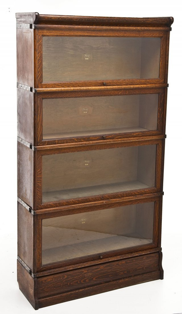 Macey 4 Stack Oak Barrister Bookcase