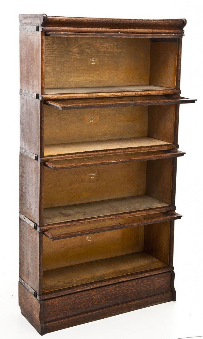 Macey 4 Stack Oak Barrister Bookcase - 2