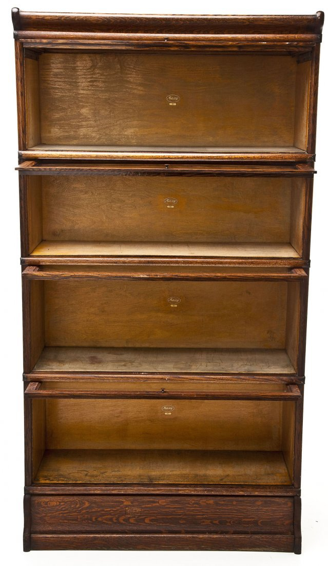 Macey 4 Stack Oak Barrister Bookcase - 3