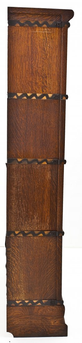 Macey 4 Stack Oak Barrister Bookcase - 8