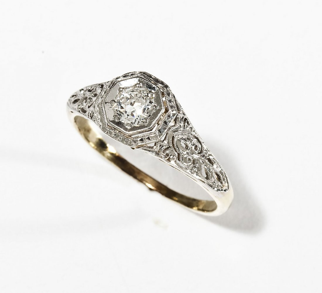 .28 Carat Diamond Filigree Ring
