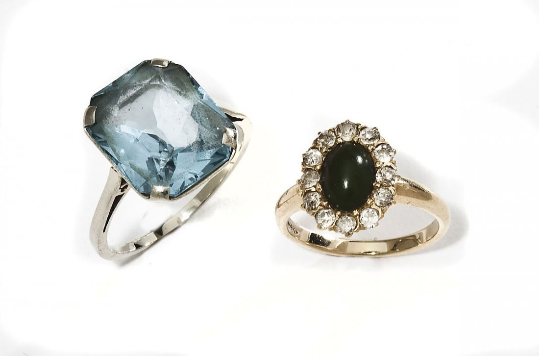 2 14K & Gemstone Rings