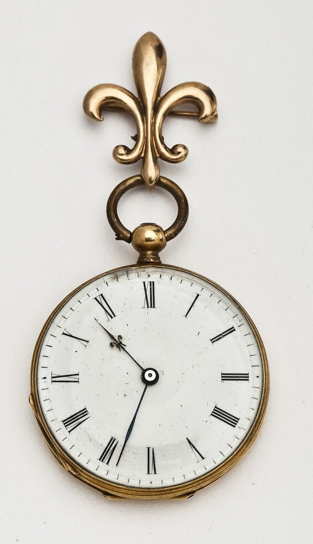 Lady's 18K Pendant Watch