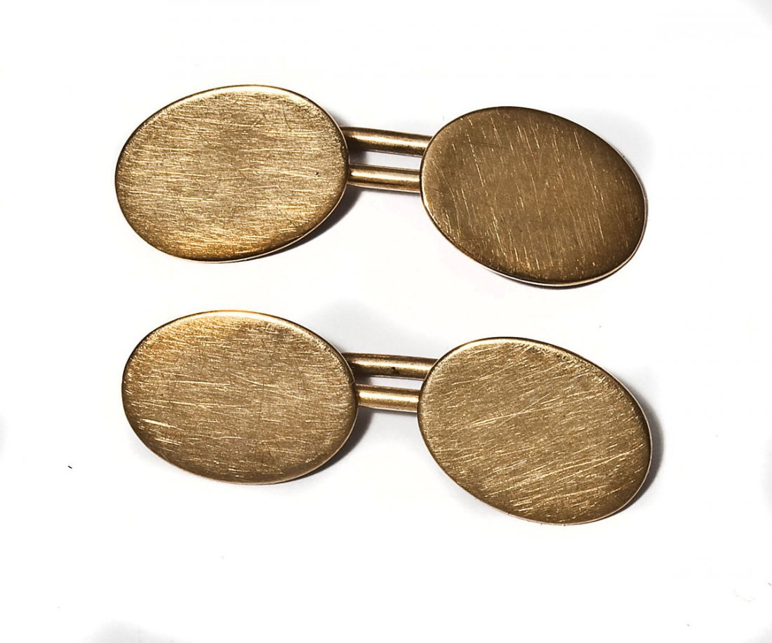 Pair 14K Gold Cuff Links