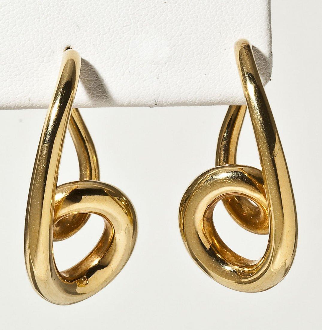 Pair of 14K Twisted Hoop Earrings