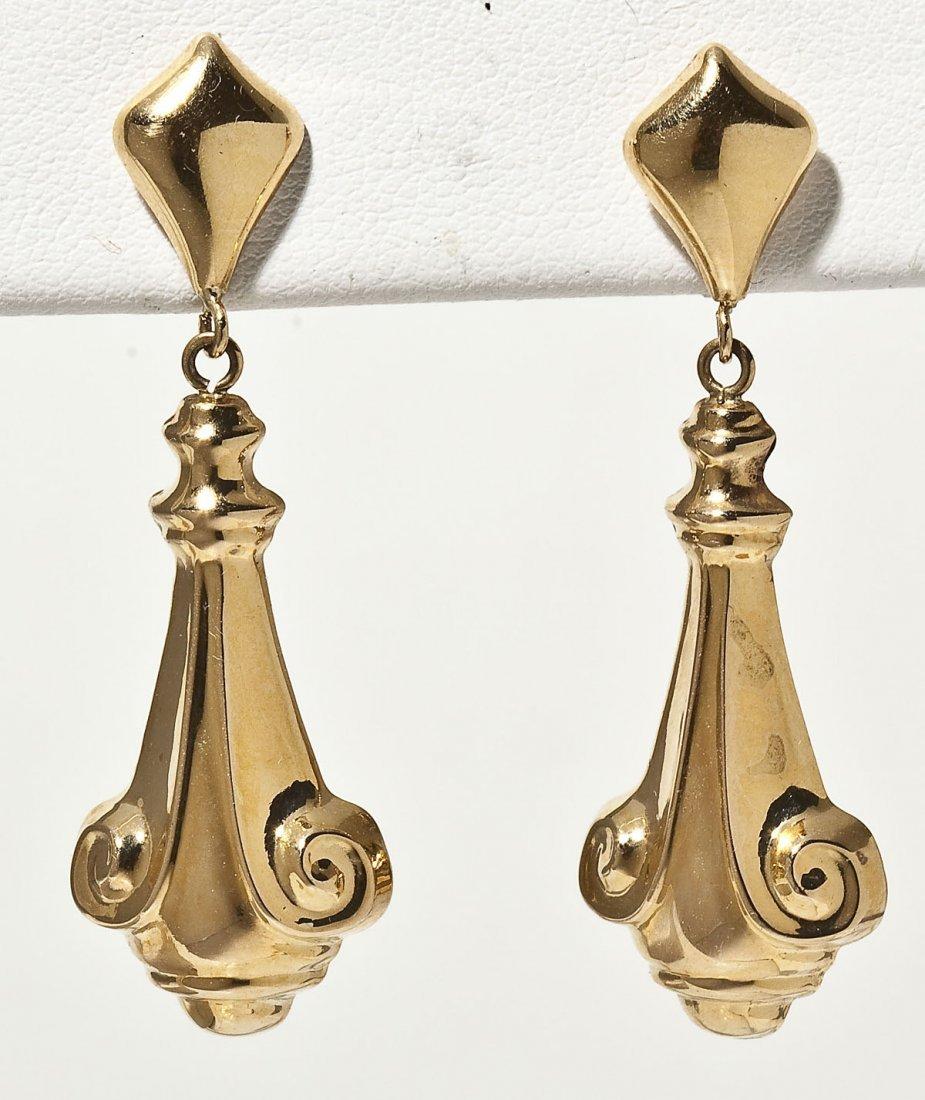 Pair of 18K Dangle Earrings
