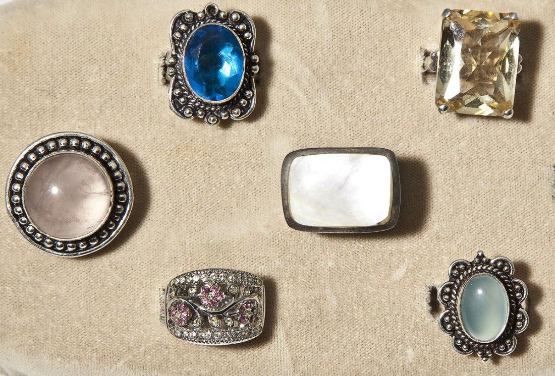 6 Sterling & Fashion Rings