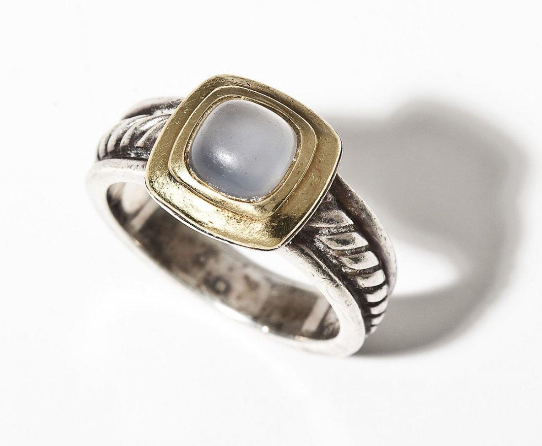 David Yurman Sterling & 18K Chalcedony Ring