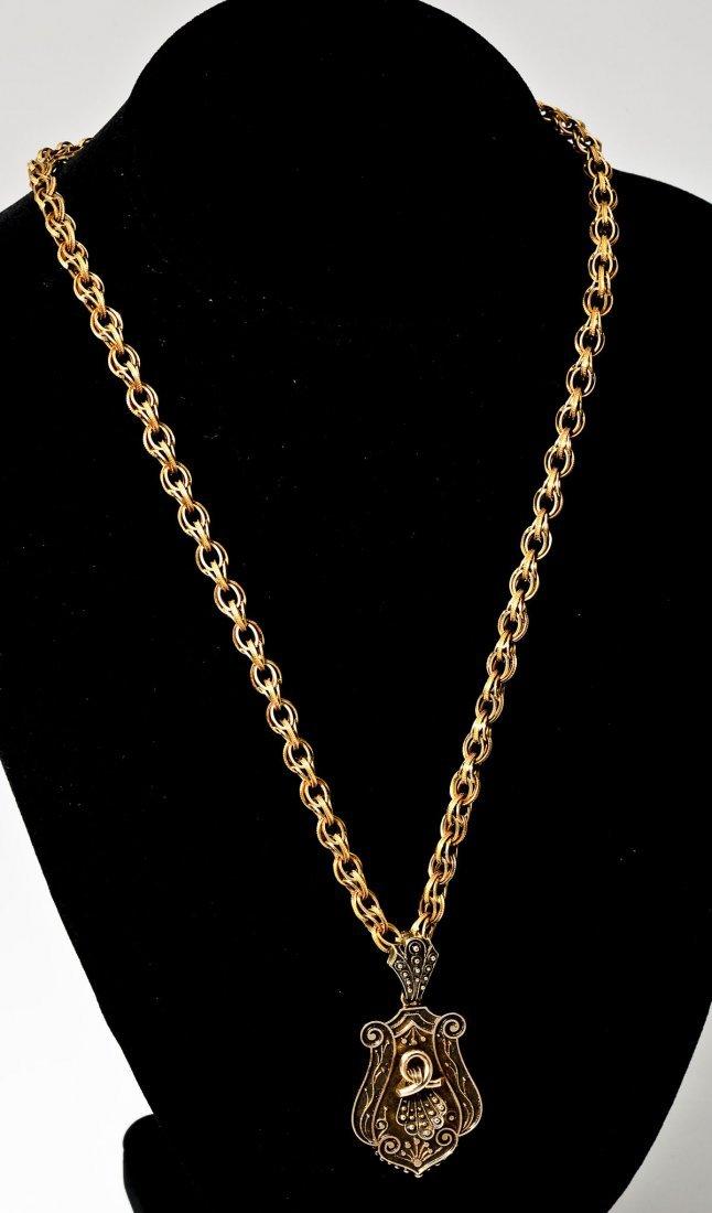 Victorian Gold Locket Necklace