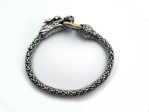 John Hardy Sterling & 18K Dragon Bracelet