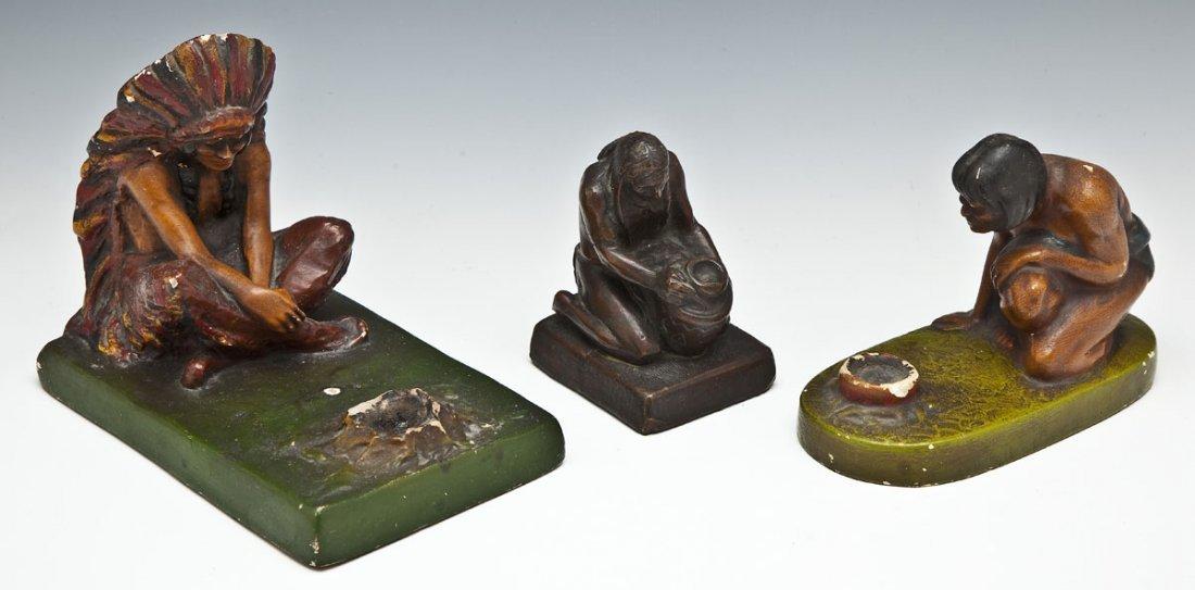 3 Native American Sculptures