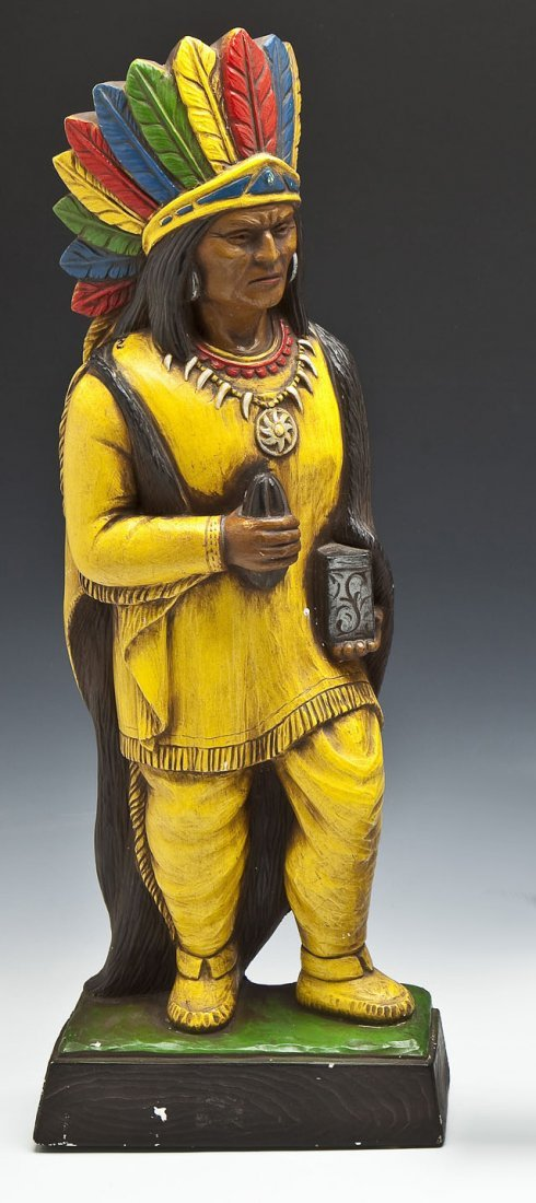 Painted Chalkware Indian