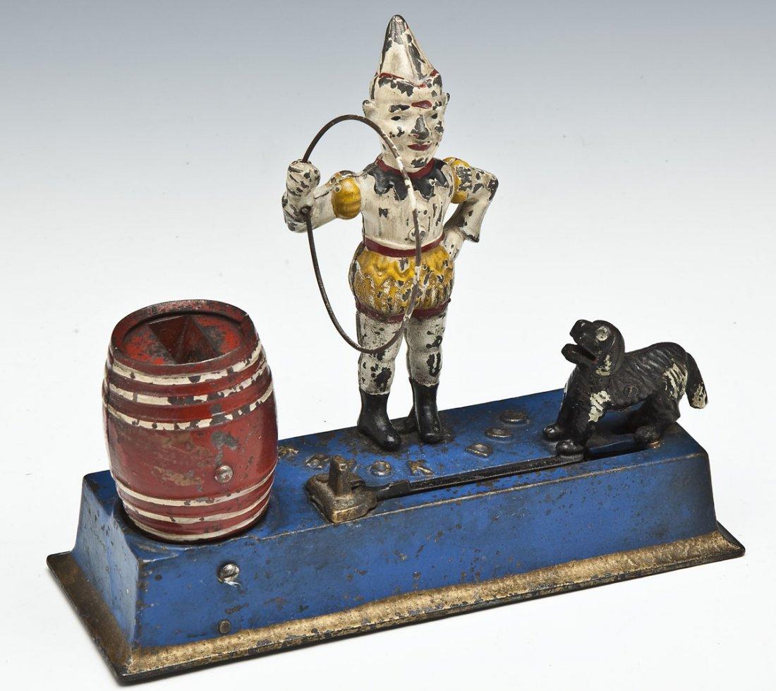 Hubley Trick Dog Cast Iron Mechanical Bank