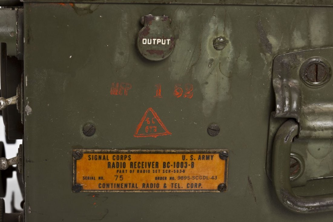 U.S. Army Signal Corps Radio Set SCR-503-B - 5
