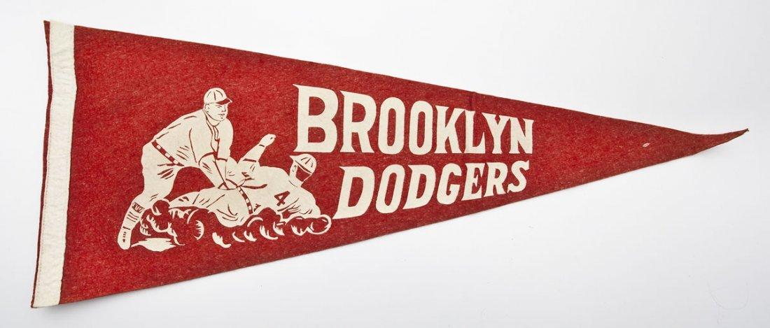 Vintage Brooklyn Dodgers Pennant