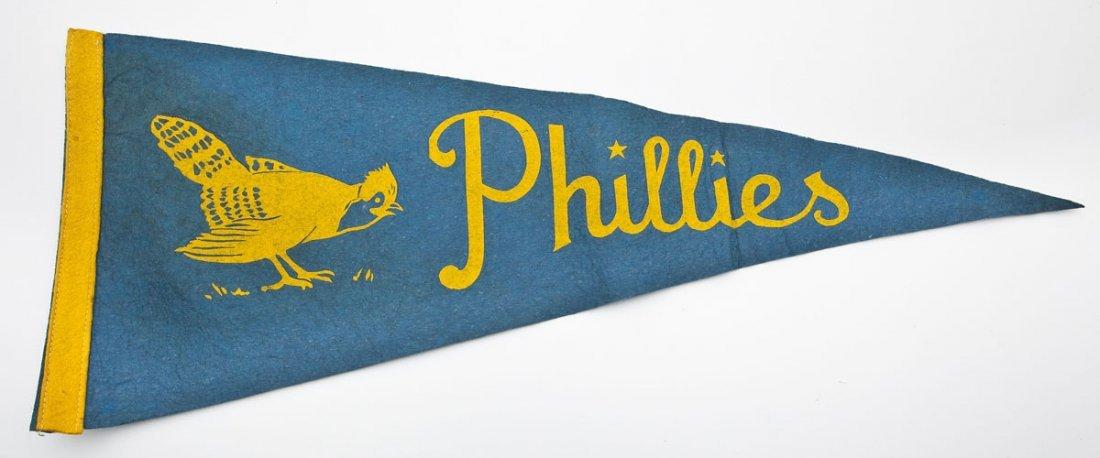 Rare Vintage Philadelphia Phillies Pennant