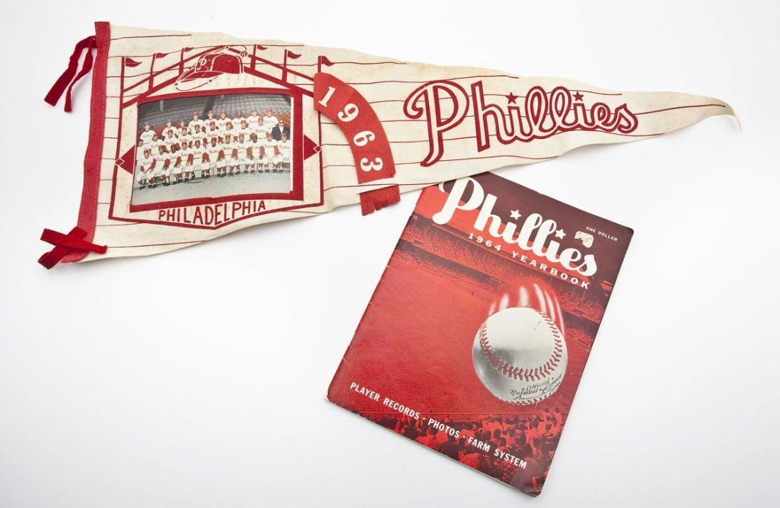 Philadelphia Phillies Pennant and Yearbook
