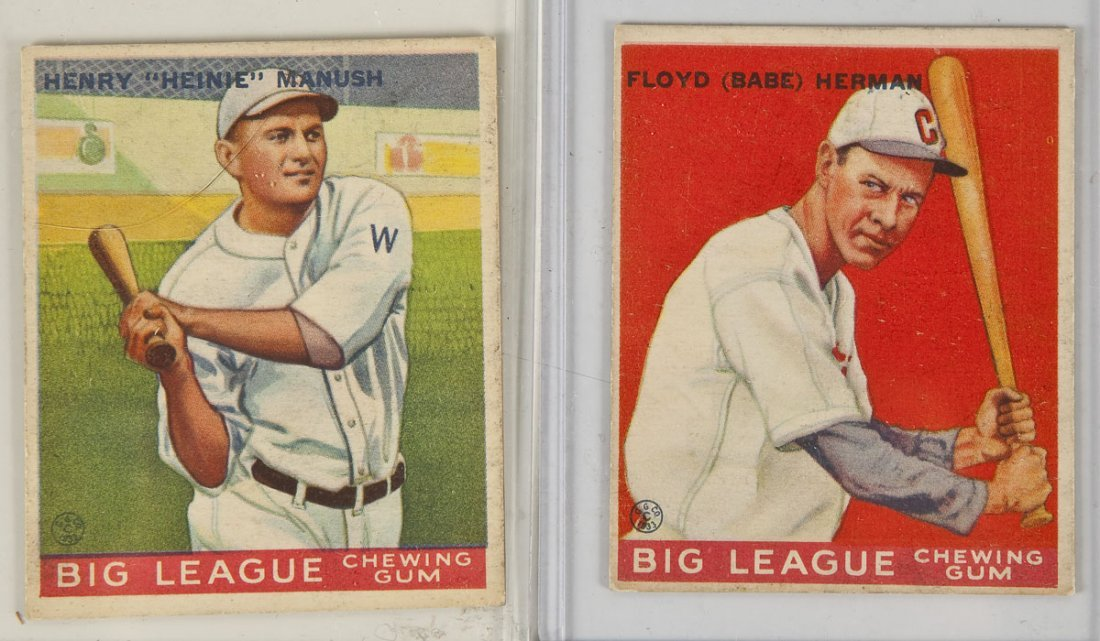 Two 1934 Goudey Baseball Cards