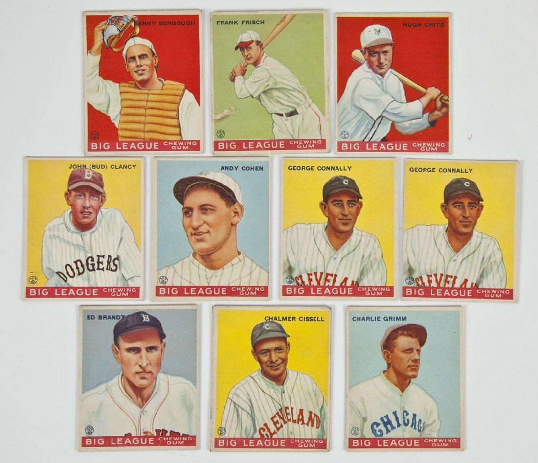 Ten 1934 Goudey Baseball Cards