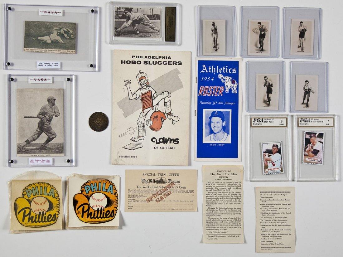 19 Sports Memorabilia Items