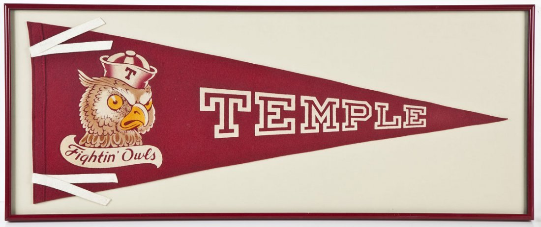 1950's Temple Owls Pennant
