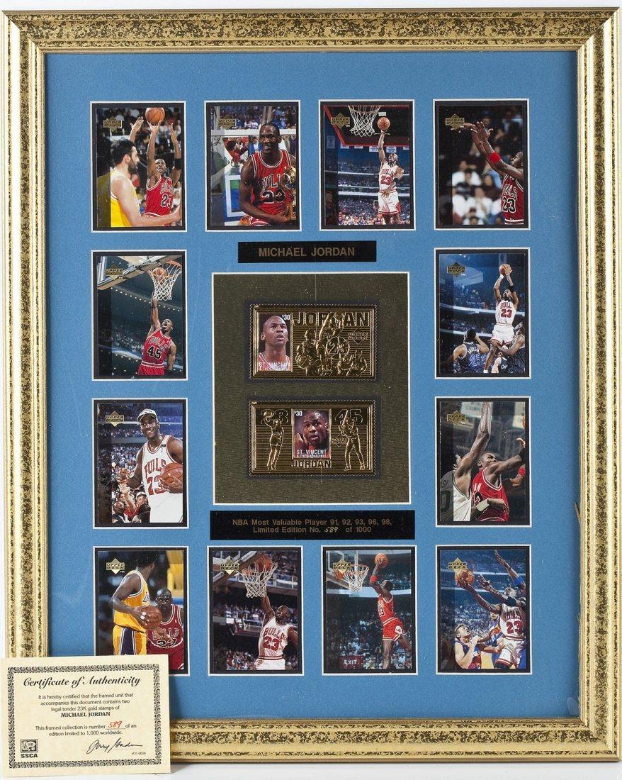 Large Framed Michael Jordan Collage