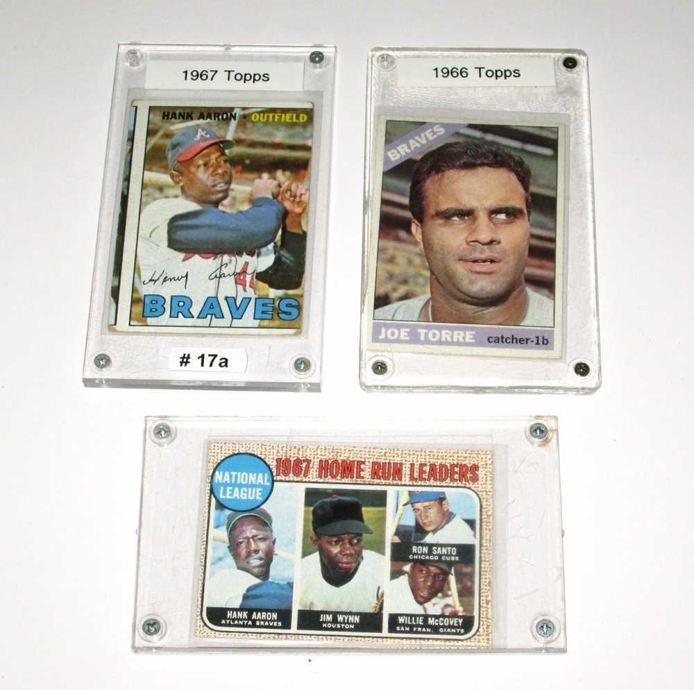 3 1960's Topps Baseball Cards incl H. Aaron