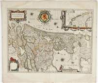 C 1640 Hollandia Comitatus Map WJ Blaeu