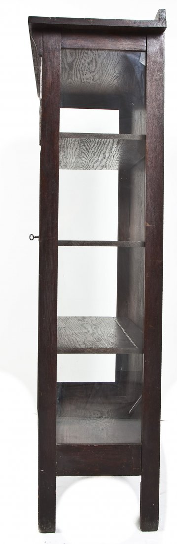 Larkin Mission Oak China Cabinet - 4