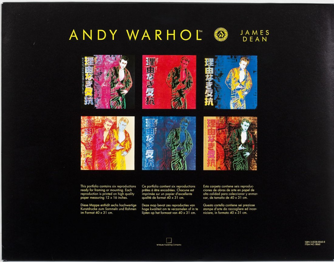 Andy Warhol James Dean Portfolio of Six Works - 2