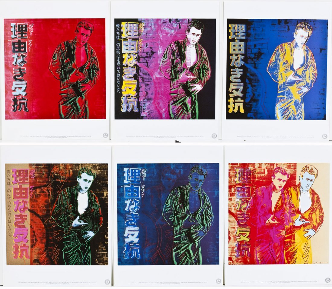 Andy Warhol James Dean Portfolio of Six Works - 4