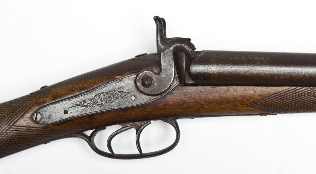 Antique Double Barrel Black Powder Shotgun - 12 Ga