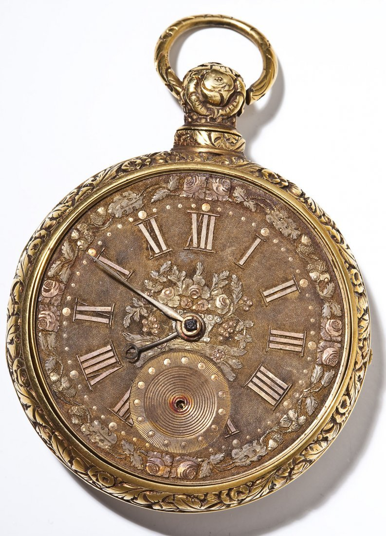 Joseph Johnson Liverpool 18K Fusee Pocket Watch