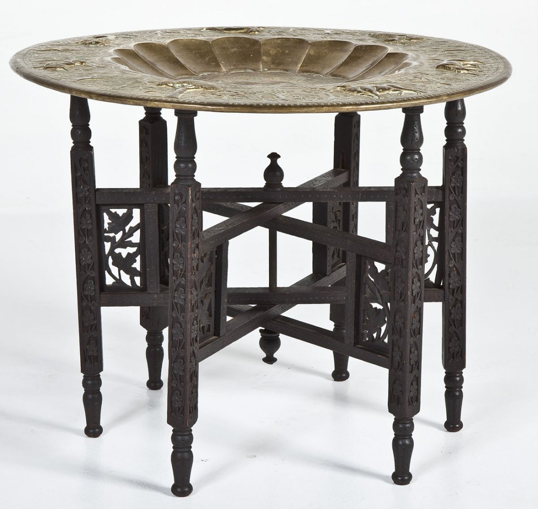 Brass tray table indian brass tray table geotapseo Gallery