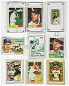 9 Vintage Baseball Cards incl Mickey Mantle