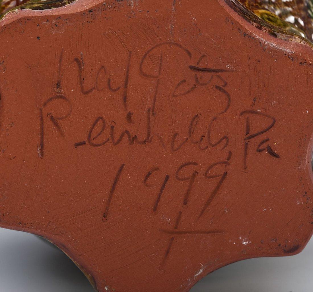2 Foltz Pottery Redware Pitchers - 3