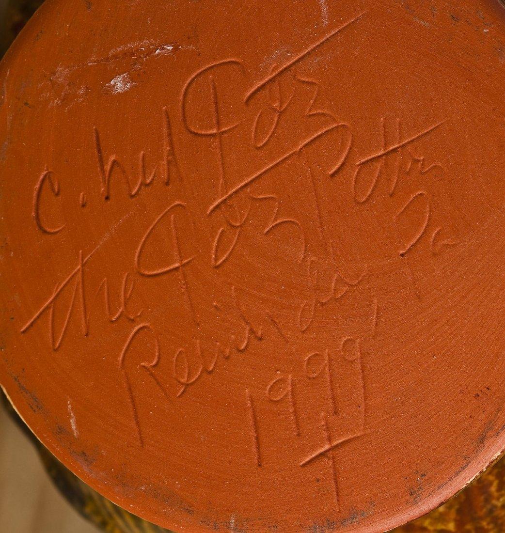 2 Foltz Pottery Redware Pitchers - 4