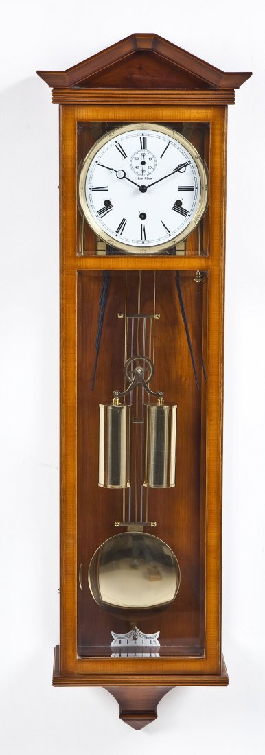 Ethan allen wall clock with chimes german ethan allen wall clock with chimes amipublicfo Images