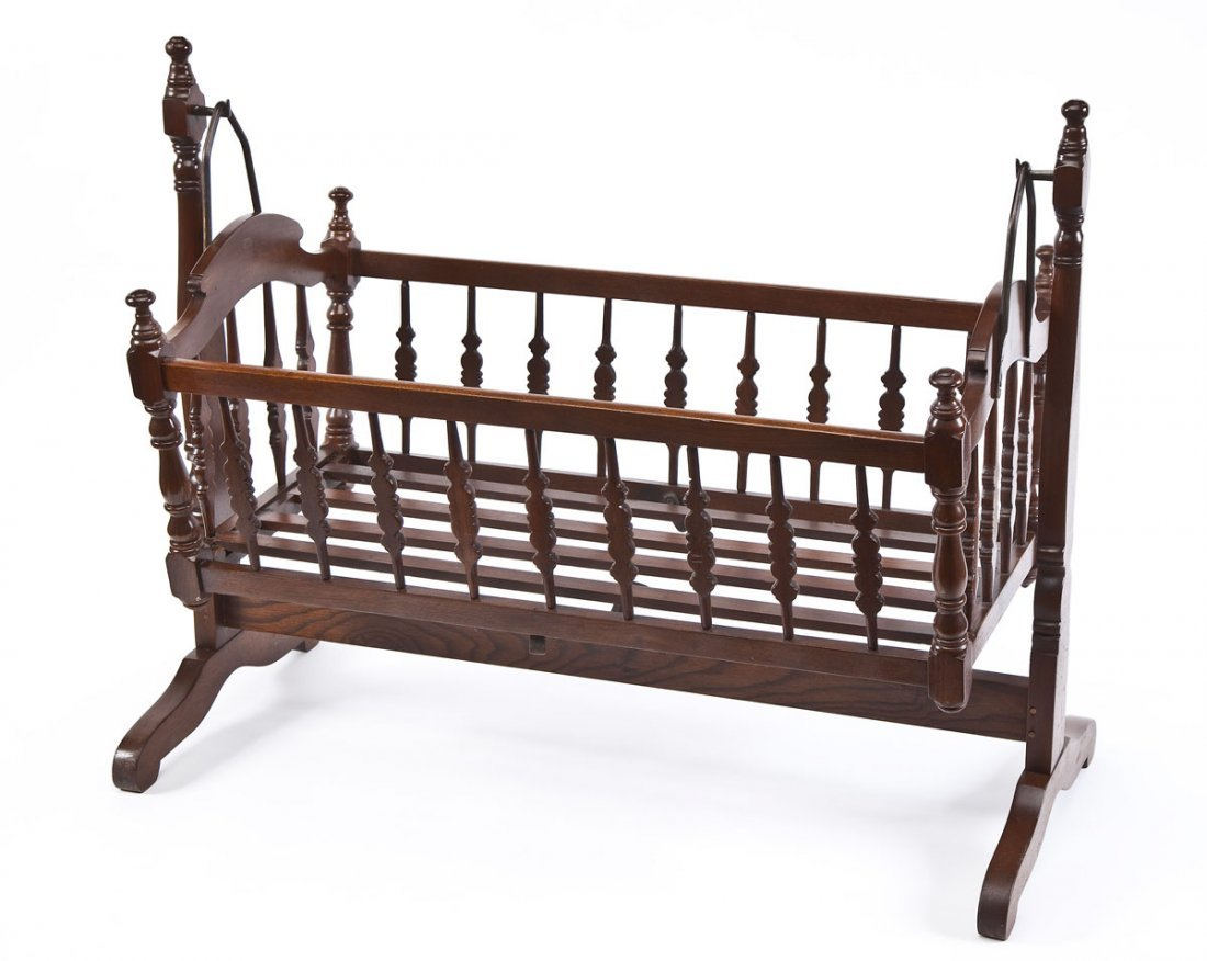 Antique Swinging Baby Cradle